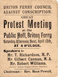 Protest meeting poster